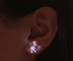 LED Crystal Earrings For The Geek Girl