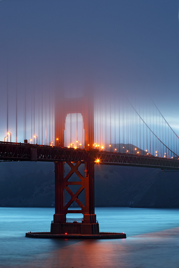 definitelydope:  Fog at blue hour (by arka02)