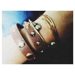 (got this studded bracelet for sixty / gold bangles for twenty) #quiapo