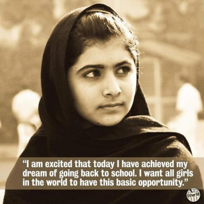 "LONDON  — Malala Yousafzai, the Pakistani teenager shot in the head by the Taliban as she returned home from school, is writing a book about the traumatic event and her long-running campaign to promote children's education.  Publisher Weidenfeld and Nicolson announced it would release ""I am Malala"" in Britain and Commonwealth countries this fall. Little, Brown and Co. will publish the 15-year-old's memoir in the United States and much of the rest of the world.  ""Malala is already an inspiration to millions around the world. Reading her story of courage and survival will open minds, enlarge hearts, and eventually allow more girls and boys to receive the education they hunger for,"" said Michael Pietsch, executive vice president and publisher of Little, Brown.  A Taliban gunman shot Malala on Oct. 9 in northwestern Pakistan. The militant group said it targeted her because she promoted ""Western thinking"" and, through a blog, had been an outspoken critic of the Taliban's opposition to educating girls.  The shooting sparked outrage in Pakistan and many other countries, and her story drew global attention to the struggle for women's rights in Malala's homeland. The teen even made the shortlist for Time magazine's ""Person of the Year"" in 2012.  Malala was brought to the U.K. for treatment and spent several months in a hospital undergoing skull reconstruction and cochlear implant surgeries. She was released last month and has started attending school in Britain.  Malala said in a statement Wednesday that she hoped telling her story would be ""part of the campaign to give every boy and girl the right to go to school.  ""I hope the book will reach people around the world, so they realize how difficult it is for some children to get access to education,"" she said. ""I want to tell my story, but it will also be the story of 61 million children who can't get education."""