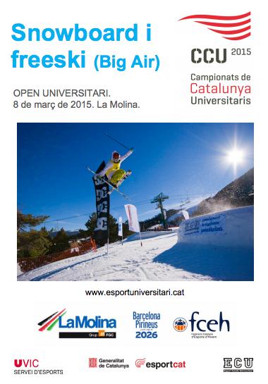 CCU Campionat de Catalunya Universitaris 2015