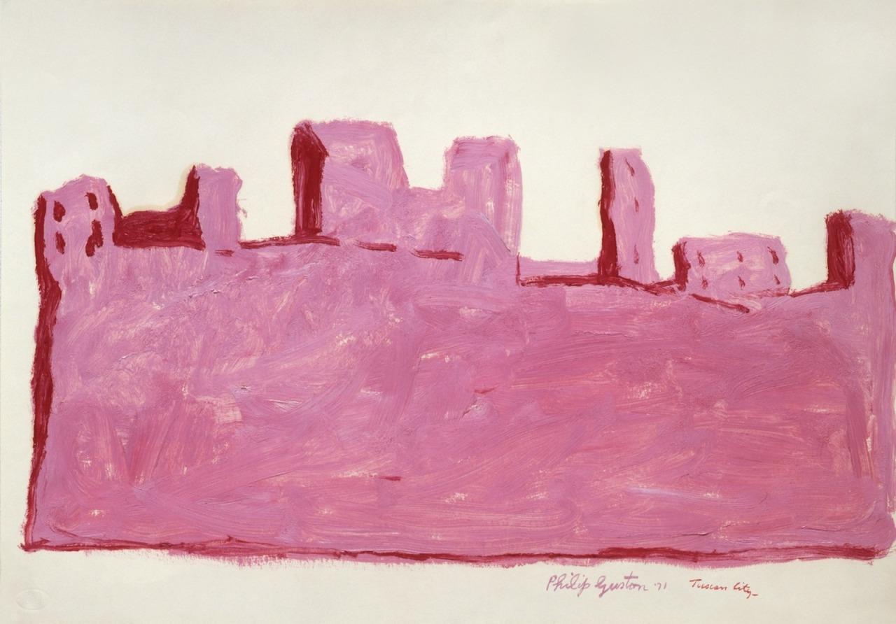 loverofbeauty:  Philip Guston: Tuscan City  (1971)