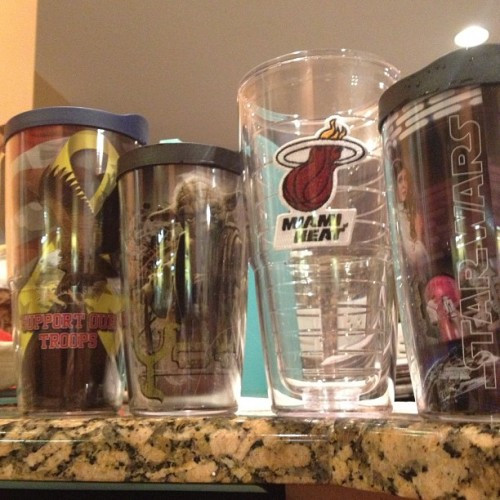 Adding to the collection #starwars #yoda #supportourtroops #miamiheat #tervis