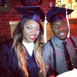 My hubby and I did it 🎓😍 ..we bringing them diplomas back to the DMV #psualumni #graduates #classof2013 #teamnigeria #knowus