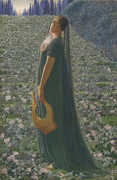 (via LARGE SIZE PAINTINGS: Carlos SCHWABE Les Champs-Elysées 1903)