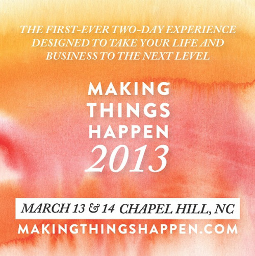 Hi friends!  We're getting ready to announce the 2013 Making Things Happen Conference (a brand new two-day format that combines Making Things Happen + Making Brands Happen!).   It will be held on March 13 and 14 here in beautiful Chapel Hill, NC.  We chose this location because it's very easy to travel in to.  Details to come! I have been SO inspired by all the comments and progress from everyone who has worked through the 2013 Goal Setting steps on my blog.  I wanted to share a big list of some of the Pinterest boards people have created for 2013 inspiration.  Enjoy! - Lara Here's mine too : ) http://pinterest.com/laracasey/making-things-happen-in-2013/  https://pinterest.com/kellydellinger/making-things-happen-2013/  http://pinterest.com/maryemaier/making-things-happen-2013/  http://pinterest.com/illustratorerin/making-things-happen-in-2013/ http://pinterest.com/beingmts/making-things-happen-2013  http://pinterest.com/createmepapered/making-things-happen-in-2013/   http://pinterest.com/shaynicole/making-things-happen-in-2013-inspiration-board/  http://pinterest.com/valeriewoerner/making-things-happen-in-2013/  http://pinterest.com/milestonepaper/making-things-happen-in-2013/  http://pinterest.com/jaquelinefaria/making-things-happen-2013/  http://pinterest.com/inspirelove/mth13/  http://pinterest.com/amandacporter/making-things-happen-in-2013-things-that-fire-me-u/  http://pinterest.com/wakeupjuliet/making-things-happen-in-2013/   http://pinterest.com/fortheloveblog/mth-in-2013/  http://pinterest.com/jenmilstudios/mth-2013/  http://pinterest.com/hales5/making-things-happen-2013/  http://pinterest.com/knicolephoto/making-things-happen-2013/ http://pinterest.com/molliel/making-things-happen-in-2013/ http://pinterest.com/magnoliarouge/mth2013/ http://pinterest.com/laurasyoung/making-things-happen-2013/  http://pinterest.com/sweetgoosiegirl/mth2013/  http://pinterest.com/lmf369/inspire-2013/ http://pinterest.com/sandypants10/making-things-happen-in-2013/  http://pinterest.com/luxtealife/making-things-happen-in-2013/  http://pinterest.com/twobevents/mth2013/ https://pinterest.com/cstarchenko/mth2013/ http://pinterest.com/psiloveyoub/making-things-happen-2013/ http://pinterest.com/ocstyle/the-phoenix-rises-making-things-happen-in-2013/ http://pinterest.com/genevievederego/making-things-happen-2013/ http://pinterest.com/rachelmay/making-things-happen-in-2013/ http://pinterest.com/cehuggins/making-things-happen-2013/ http://pinterest.com/brownatl/making-things-happen-in-2013/ http://pinterest.com/amyraephoto/making-things-happen-in-2013/ http://pinterest.com/smlowry/making-things-happen-in-2013/ http://pinterest.com/kimameral/making-things-happen-in-2013/ http://pinterest.com/stephgirard/making-things-happen-2013/ http://pinterest.com/courtney_basik/vision-board-2013/ http://pinterest.com/kimameral/making-things-happen-in-2013/ http://pinterest.com/girlnpink80/making-things-happen-in-2013/ http://pinterest.com/jessicafmpls/making-things-happen-in-2013/ http://pinterest.com/NikkaEvents/making-things-happen-in-2013/  http://pinterest.com/kimameral/making-things-happen-in-2013/  http://pinterest.com/carriejoyphoto/making-things-happen-in-2013/ http://pinterest.com/twayphoto/make-things-happen-in-2013/ http://pinterest.com/emilyhansel/making-things-happen-in-2013/  http://pinterest.com/brandiepahl/2013-vision-board-making-it-happen-in-2013/  http://pinterest.com/ashleydanyew/making-things-happen-in-2013/ http://pinterest.com/jenbuenunc/making-things-happen-in-2013/ http://pinterest.com/breannaebeth/making-things-happen-in-2013/ http://pinterest.com/suzcllns/making-things-happen-in-2013/ http://pinterest.com/catieronquillo/making-things-happen-in-2013/ https://pinterest.com/nataliesink/making-things-happen-2013/ http://pinterest.com/alysefrench/making-things-happen-in-2013/ http://pinterest.com/ablankcanvassb/making-things-happen-2013/ http://pinterest.com/shelb/making-things-happen-in-2013-mth/ http://pinterest.com/saraaislecandy/mth-2013/  http://pinterest.com/lynzy/making-things-happen-in-2013/  http://pinterest.com/karicrowe/making-things-happen-in-2013/ http://pinterest.com/TiffanyLFarley/making-it-happen-2013/ http://pinterest.com/jessica_chavez/making-things-happen-2013/ http://pinterest.com/mandalynne88/making-things-happen-in-2013/ http://pinterest.com/madimagnolia/making-things-happen-2013/ http://pinterest.com/nicolesaffron/making-things-happen-in-2013/ http://pinterest.com/chicrews/makingthingshappen2013/ http://pinterest.com/stefaniemiles/making-things-happen-in-2013/ http://pinterest.com/mll33/mth-in-2013/  http://pinterest.com/jaclynclaire/making-things-happen-2013/   http://pinterest.com/kinzscott23/making-things-happen-2013/  http://pinterest.com/meredithteasley/2013-making-things-happen/ http://pinterest.com/aliciaswedenbrg/making-things-happen-in-2013/ http://pinterest.com/chicrews/makingthingshappen2013/ http://pinterest.com/karenstott13/making-things-happen-2013/ http://pinterest.com/carriemoe/making-things-happen-2013/ http://pinterest.com/carmen_iris/2013-goals/  http://pinterest.com/tmichellenc/making-things-happen-2013/   http://pinterest.com/laurasyoung/making-things-happen-2013/   http://pinterest.com/erika088/making-things-happen-2013/  http://pinterest.com/cehuggins/making-things-happen-2013/ http://pinterest.com/ChristinaLeigh/making-things-happen-in-2013/  http://pinterest.com/kristinealetha/making-things-happen-in-2013/  http://pinterest.com/wendi_solari/vision-2013/ http://pinterest.com/kristy_degraaf/making-things-happen-in-2013/ http://pinterest.com/pebenson/kindling-making-things-happen-2013/ http://pinterest.com/IDEAeventstyle/making-things-happen-in-2013/ http://pinterest.com/cjvee/making-things-happen-2013/ http://pinterest.com/shaynicole/making-things-happen-in-2013-inspiration-board/ http://pinterest.com/emilydean/making-things-happen-2013/ http://pinterest.com/kristineneeley/making-things-happen-in-2013/  https://pinterest.com/twobevents/mth2013/  http://pinterest.com/Mandyvolpe/making-things-happen-in-2013/ http://pinterest.com/heatherobrien/making-things-happen-in-2013/ http://pinterest.com/kaileymichelle/making-things-happen-2013/  http://pinterest.com/amandacporter/making-things-happen-in-2013-things-that-fire-me-u/  http://pinterest.com/jordanmaunder/2013-making-things-happen/ http://pinterest.com/danyacollyer/making-things-happen-in-2013/  http://pinterest.com/weddobsessed/making-things-happen-in-2013/   http://pinterest.com/chanteltripp/you-can-do-this-think-possible/   http://pinterest.com/genevievederego/making-things-happen-2013/   http://pinterest.com/mcmoodie/making-things-happen-2013/  http://www.pinterest.com/beingmts/making-things-happen-2013/ http://pinterest.com/ashleydanyew/making-things-happen-in-2013/