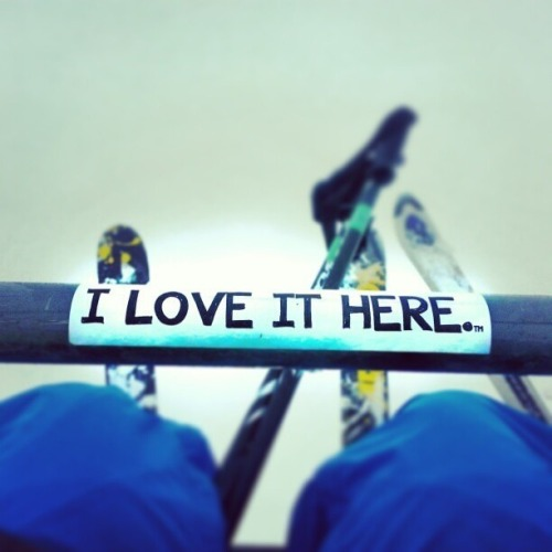 "Even though skiing does have a lot of problems, we still ""love it here."""