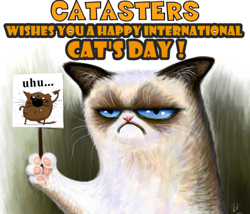 HAPPY INTERNATIONAL CAT'S DAY !!!!! THIS POST IS DEDICATED FOR ALL OUR FOLLOWERS AND CAT LOVERS!Original picture here.