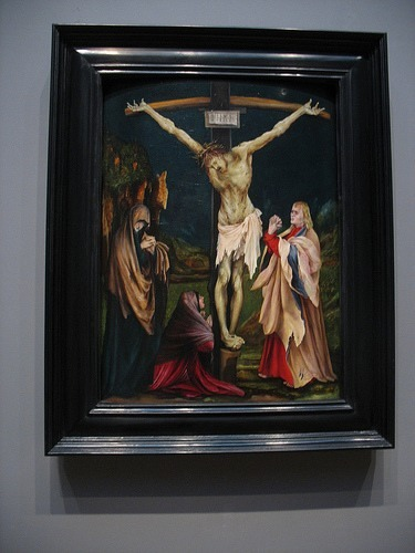 My favorite depiction of the the crucifixion in Western art: Grunewald's Small Crucifixion