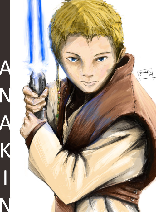 Anakin, by me Sketched and painted in Photoshop CS
