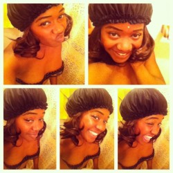 #silly #faces #strikeapose #satinbonnet #styling lol… B4 the wrap and shower lol… After #hiphopsundays and dropping my girls off lol…