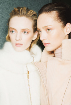 backstage at Blumarine, fall/winter 2013Daria Strokous @ Women & Karmen Pedaru @ IMG