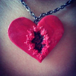 "bashiebat:  ""Your heart has blackened, Snow White."" My necklace was made by the gorgeous and talented @meganrandom check out her Etsy!!! http://www.etsy.com/shop/CustomRandomRaven"