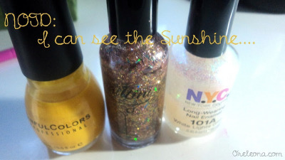 new post!! (via ♥ The Pristine Notion ♥ : NOTD: I Can See The Sunshine…..)