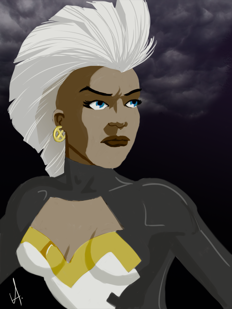 Storm  Done for Illustration Friday. Probably two hours total.  It might not be obvious, but there's some initial pokes at doing more digital painting rather than just straight-up comic book-style drawing. But man do i have a long way to go.