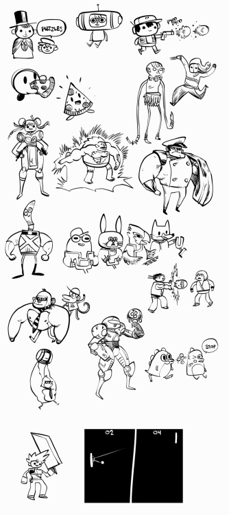 nedroidcomics:  Drawings from tonight's video-game-themed Draw Friends hangout