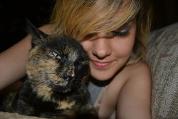 Me and the adorable Tika.  Follow me