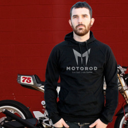 Motorod - live fast | ride faster. Building motorcycles for the daring, Motorod specializes in custom cafe' racers and bobbers. The identity system for Motorod had to be as sharp and fast as their reputation.