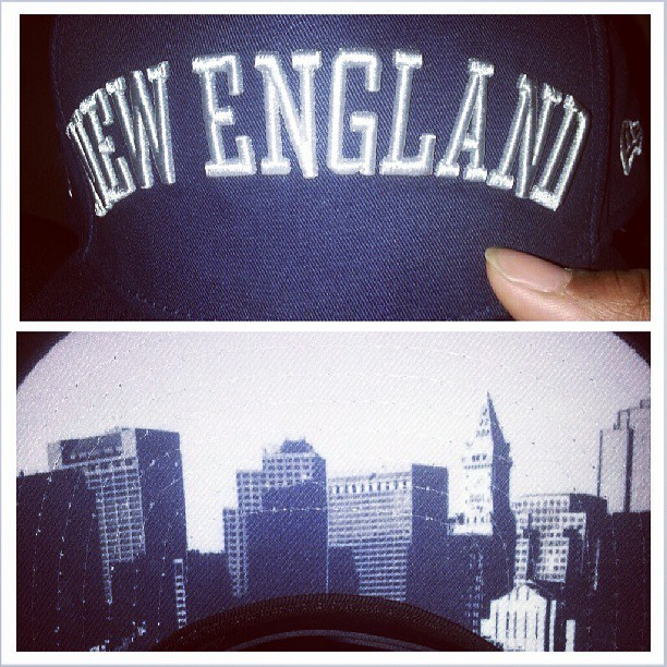 My newest #newenglandpatriots hat..they got the city under the brim…dope