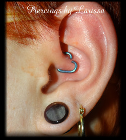 Daith with a 16g 5/16 heart from LeRoi