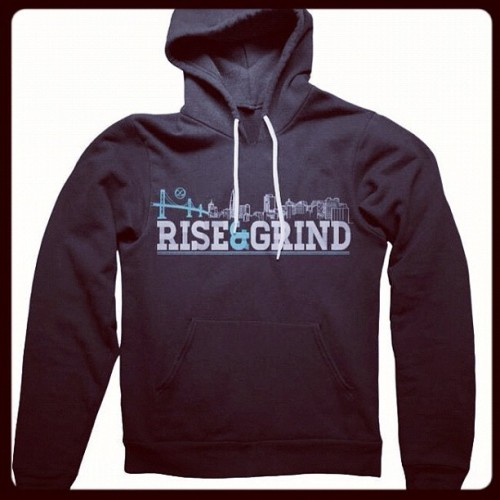 Get em while they last! #tiffanyblue #riseandgrind #hoodie                                 www.infinityovereverything.com