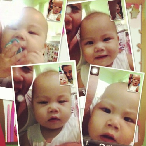 #FotoRus Brielle and Ethan…facetiming! #baby #toddler #cute #happy #igers #igersdaily #igersmanila #instagram #instapic #picoftheday