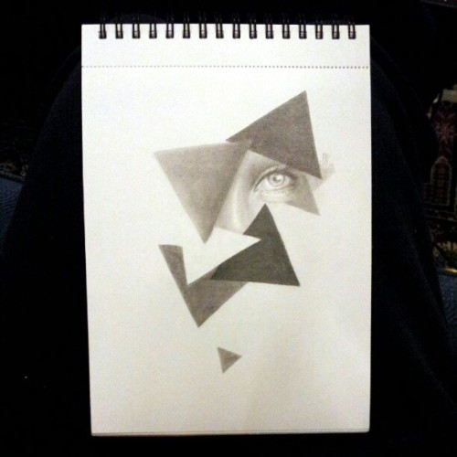 Triangles, sketchbook.