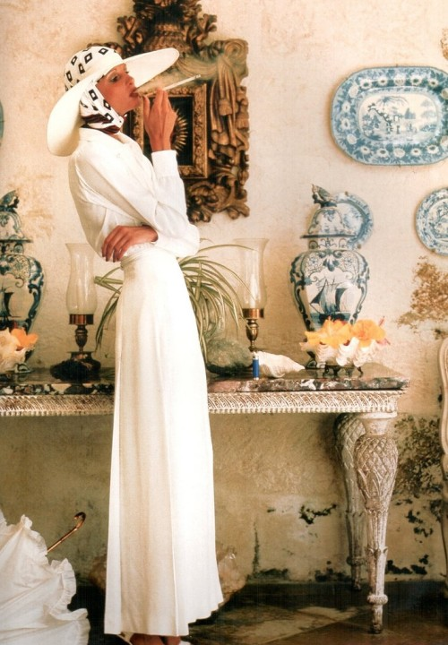 Apollonia van Ravenstein by Norman Parkinson, July 1973