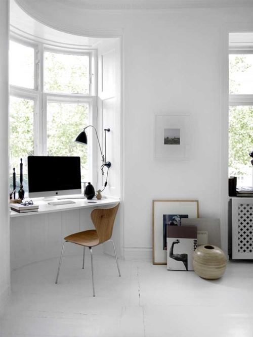 myidealhome:   workspace in a window nook (via 79 Ideas)  white