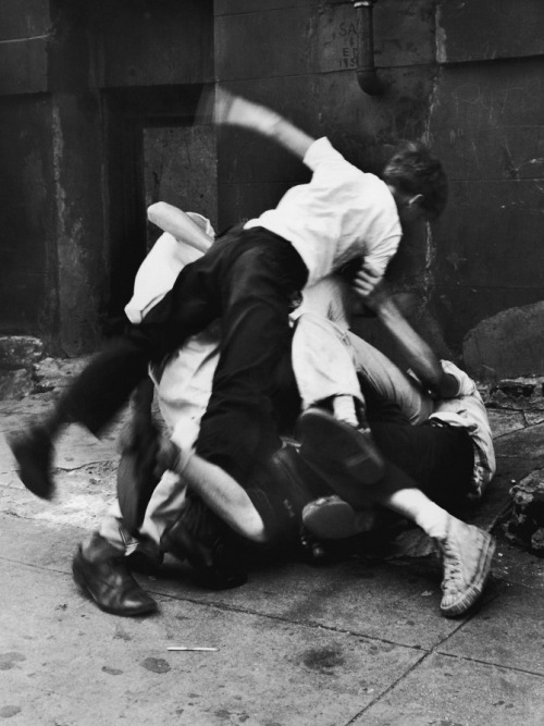 Group of Boys Fighting in a Heap, 1950 - Unkown photographer, courtesy of Getty Images