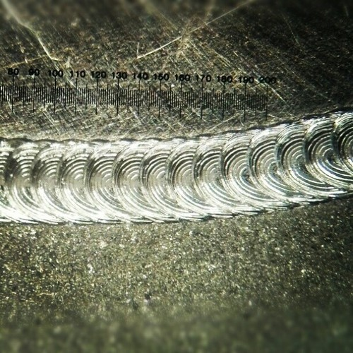 "functionelitist:  Probably the coolest #weld I've performed yet. #electron #beam #welding #304SS  And those divisions are in 0.001"" #thousandths (at Electron Beam Welding)"