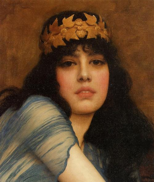 goodolarthistory:  Artist: John William Godward Title: Head of a Girl
