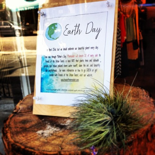 Shop local and make the world a prettier place- we're donating 5% of proceeds to Friends of the Urban Forest in recognition of Earth Day all month long!!! #earthday #spreadthelove #shoplocal #savetheworld #friendsoftherbanforest #makeadifference