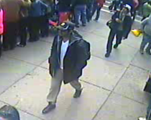 nowthisnews:  OFFICIAL FBI photos of the two suspects in the Boston Marathon bombing investigations.  Please call 1-800-CALL-FBI or go to https://bostonmarathontips.fbi.gov if you have any information about them.