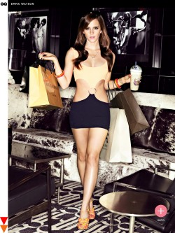 hotminiskirts:  Emma Watson looking AMAZING, very sexy in the latest GQ photo-shoot.