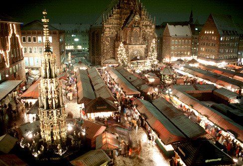 Europe's Best Christmas Festivals: Nuremberg's Christkindlesmarkt known as the 'Little Town from Wood and Cloth' awards prizes to the most beautiful and tastefully decorated festival stalls.