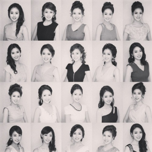 voreyeur:  bitterseafigtree:  sara-huynh:  neaato:  #korean plastic surgery all look alike??  http://www.dailymail.co.uk/news/article-2314647/Has-plastic-surgery-20-Korean-beauty-pageant-contestants-look-Pictures-contest-hopefuls-goes-viral.html http://www.huffingtonpost.com/2013/04/25/miss-korea-contestants-2013-photos_n_3157026.html http://gawker.com/plastic-surgery-blamed-for-making-all-miss-korea-contes-480907455 …Seriously, Western media? You had to jump on this, eh? I'm gonna do bullet points because it's late and I'm tired. 1. Same lighting used/camera angles2. Very similar hair styles3. Facial contouring/highlighting is almost identical - emphasis on the nose bridge, jaw is made to appear slimmer4. Their eye make up is almost identical to one another5. Images have been photoshopped/tweaked to fit beauty standards So yeah, they're going to look alike. But hey… they don't actually all look the same.  And why are people so surprised that Koreans share similar features anyway? South Korea is one of the most ethnically homogeneous countries in the world.  Also, are we really gonna pretend that American pageant girls don't all look eerily alike? Cause they do. And it's creepy.  ^^^ or liek idk the 500000 white models in the fashion industry