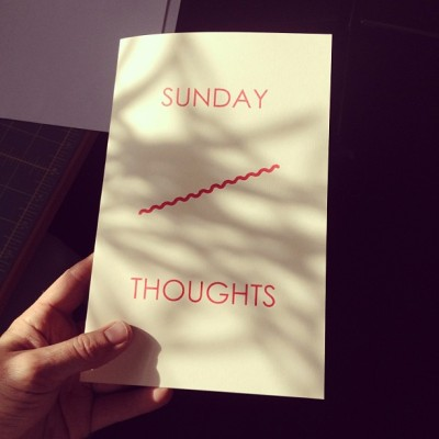 New zine coming…