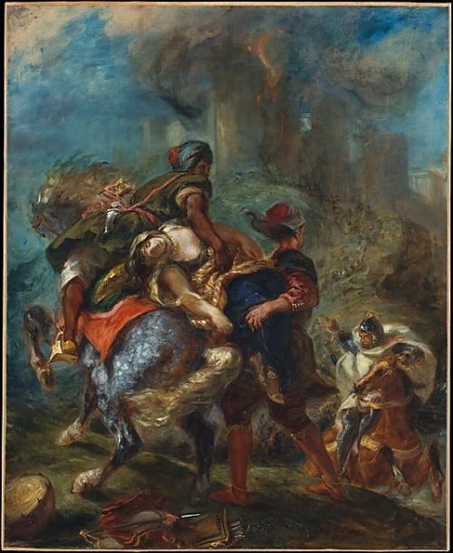 The Abduction of Rebecca by Delacroix (1846)