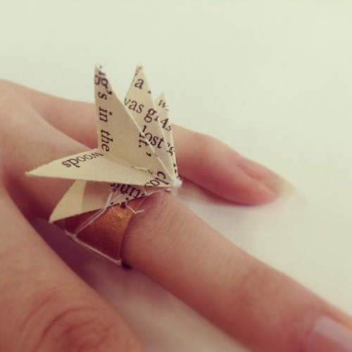 Copper and origami ring #designcrafts