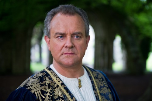 Exclusive! Downton Abbey's Hugh Bonneville summons his signature furrowed brow for the new series Da Vinci's Demons, which premieres April 12 at 10 p.m. on STARZ.  See more instances of Hugh's adorable dad face here.