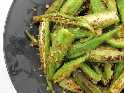 Meagen at Vegan Food Addict is killing it with this savory coconut okra. I love new recipes for unusual vegetables! Of course okra is super good for you, but battering and deep-frying it is a massive pain, so how about lightly stir-fried? You can avoid sliminess with acid! Better cooking through chemistry.