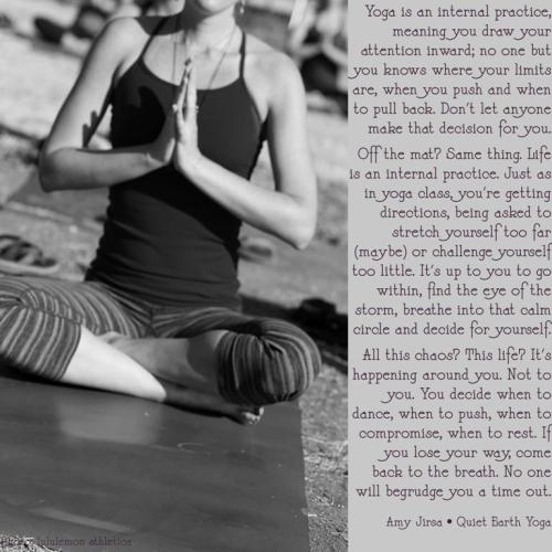 quietearthyogini:  Photo via Lululemon