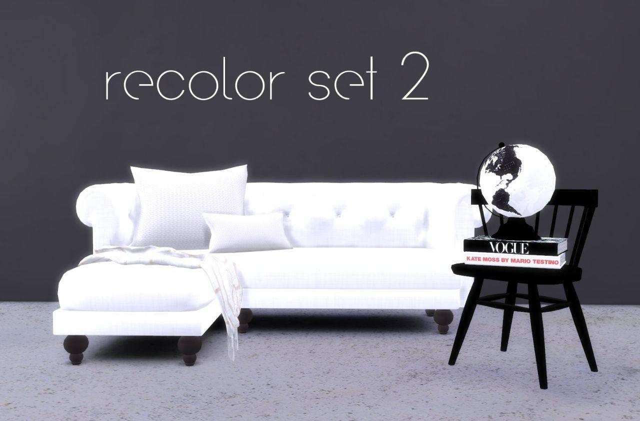 Hvikis recolor set 2 blackcatphoenix s corner sofa 5 for Sofa bed sims 4