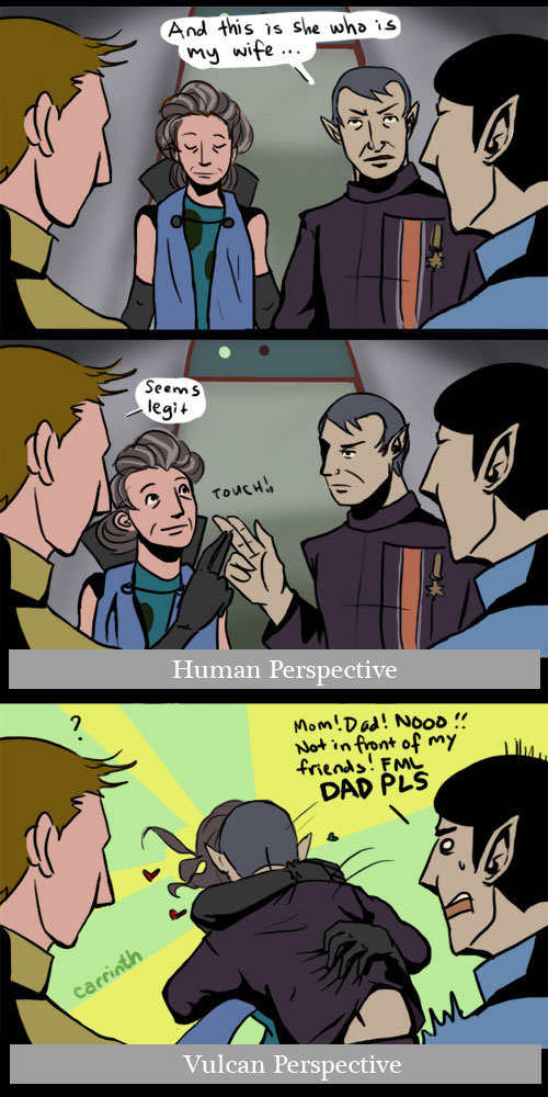 carrinth:  Star Trek: A Matter of Perspective by ~carrinth This is why you have no friends, Spock.