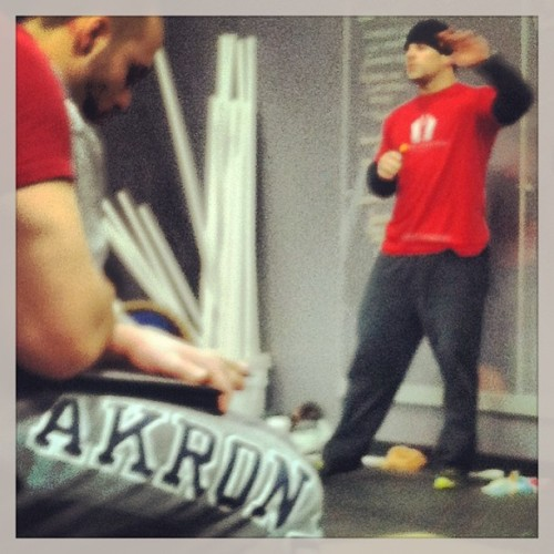 Rob Orlando Strongman cert. @crossfit_akron #liftheavyshit (at Crossfit Akron)