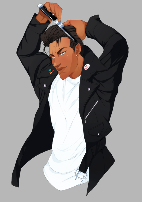 natstalgic:  Arturo Ortiz Vasquez as a super tuff greaser. He's one bad vato. Yo.  This is for you, Row. Thanks for RPing with me! <3  DAMN BOY WHY DON'T YOU SCOOT ON THIS WAY MHHMHHH