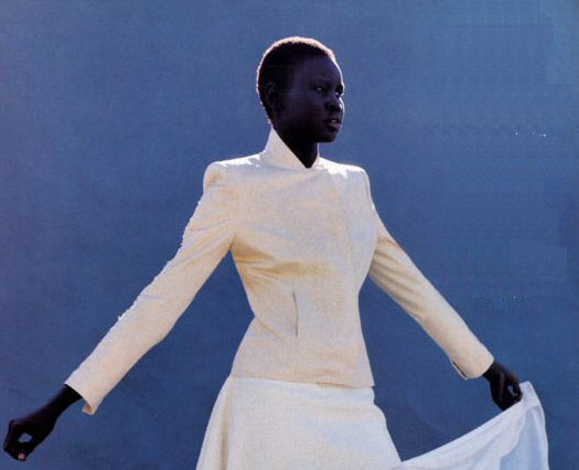 ejakulation:  2nd Skin, Alek Wek photographed by Gilles Bensimon for Elle, 1992