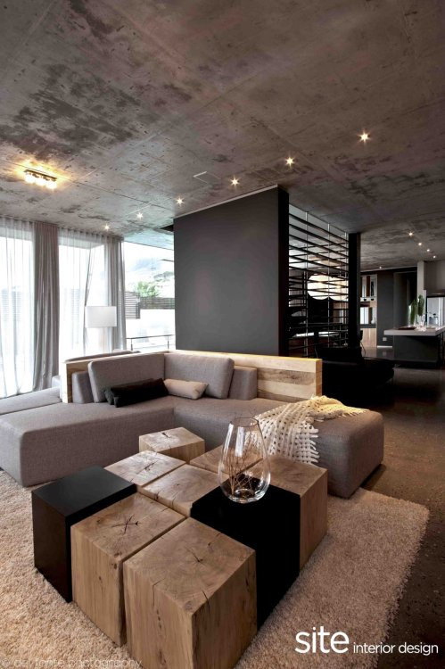 justthedesign:  Living Room Interior Design At The Aupiais House by Site Interior Design Photography By Del Fante