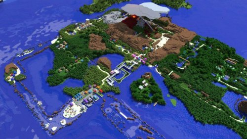 dorkly:  Hoenn Region of Pokemon Recreated In Minecraft Gotta build it all.